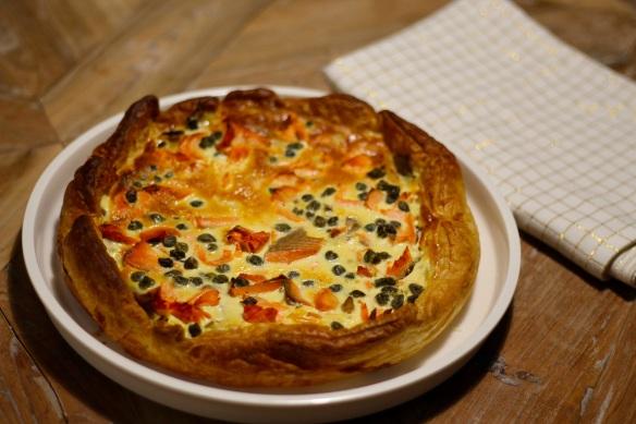 Tarte-salee-champignons-saumon